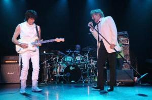 Jeff beck with Rod Stewart