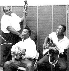 (L to R) Willie Dixon, Muddy Waters, Buddy Guy