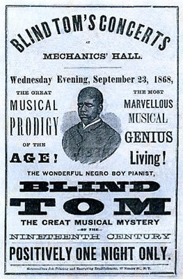 Blind Tom advertisement