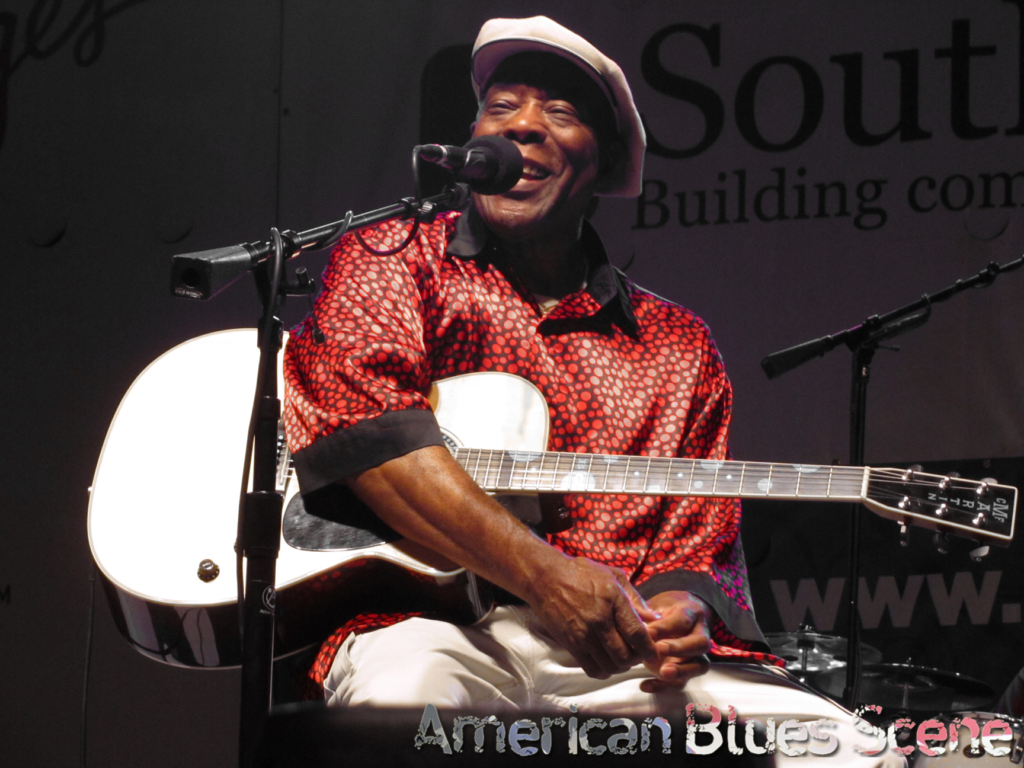 Buddy Guy playing Acoustic Guitar at the King Biscuit Festial