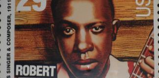 Robert johnson on a Stamp