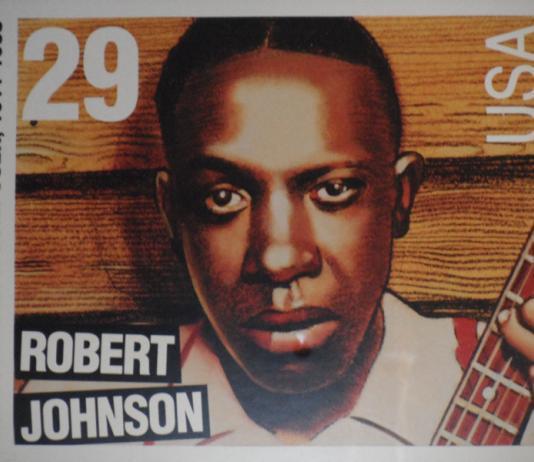 Robert johnson on a Stamp
