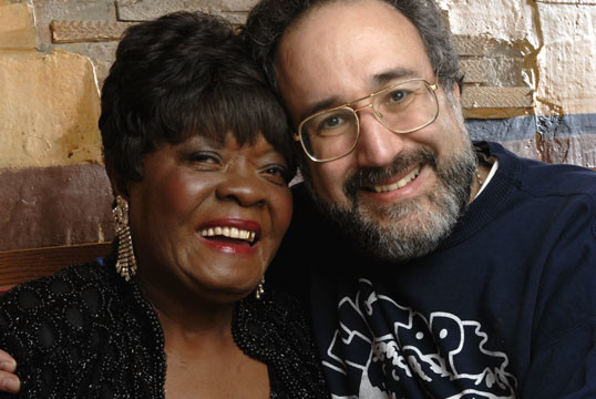 Koko Taylor and Bruce Iglauer