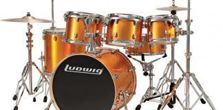Ludwig Orange Drumset