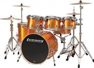 Ludwig Orange Drumset