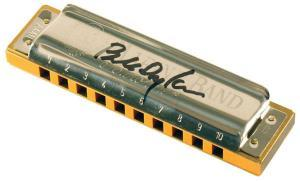 Marine Band harmonica signed by Bob Dylan