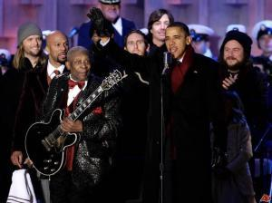 President Barack Obama and BB King with his signature Lucille