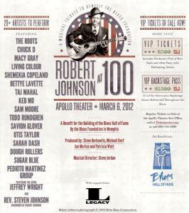 Robert Johnson Tribute Concert Benefit for Blues Hall of Fame