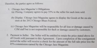 Chicago Jazz Festival Merch