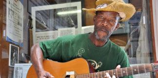Delta Blues legend Pat Thomas at the Highway 61 Blues Museum