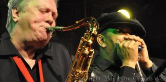 Sugar Blue with Bobby Keys (Photo: Lynn Orman Weiss)