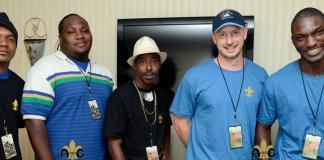 L to R: Garry Burnside, Cody, Trenton Ayers, Chuck Duncan, and Cedric Burnside (Photo courtesy Amanda Gresham)
