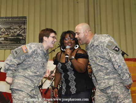 Bluzapalooza in Iraq, featuring Shemekia and the Troops (Photo: Joe A Rosen)