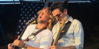 Mike Zito and bandmate in Royal Southern Brotherhood, Devon Allman at Spirit of Kansas Blues Festival, 2012