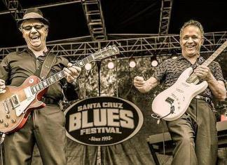 Steve Miller and Jimmy Vaughan at Santa Cruze Blues Festival (Photo: © Jerome Brunet Photography http://www.JeromeBrunet.com)