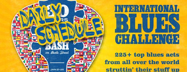 International Blues Challenge 2014 Schedule FEATURED