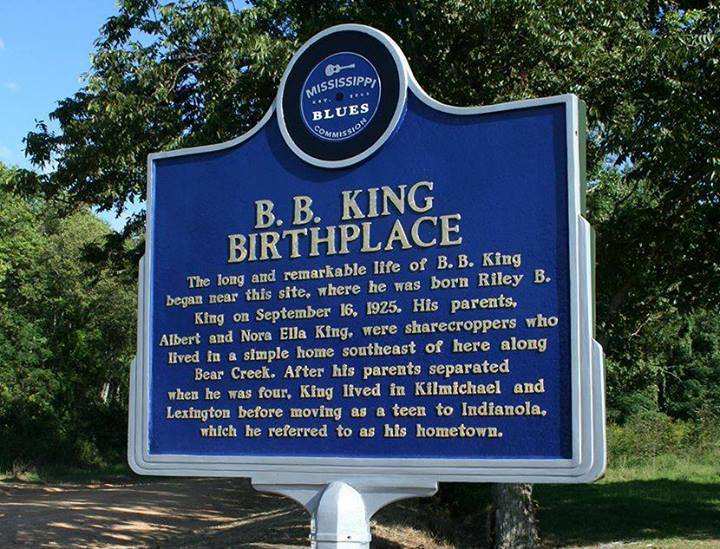 BB King Birthplace - Mississippi Blues Trail Marker