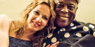 Ana Popovic and Buddy Guy at the Experience Hendrix Tour