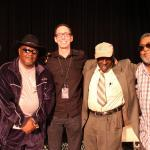 Rip Lee Pryor, Gearshifter Youngblood, Roger Stolle, Bud Welch and Red Paden at the popular King Biscuit Blues Symposium (Photo by Matt Marshall)