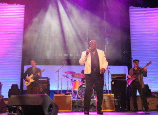 """Mighty Sam McClain performing his hit """"Too Much Jesus Not Enough Whiskey"""""""