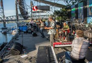 Jaomies Jazz Band at the Portland Waterfront Blues Fest (Photo courtesy of the great Marilyn Stringer)