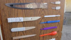 confiscated prison shanks
