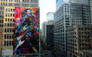 Muddy Waters Mural artist Eduardo Kobra website