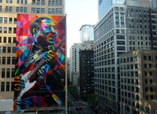 Muddy Waters Mural artist Eduardo Kobra website