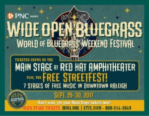 Wide Open Bluegrass Festival Ad 2017