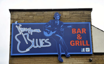 Big House Blues Bar & Grill Sign Laura O'Neill