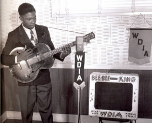 A Young B.B. King at WDIA in Memphis