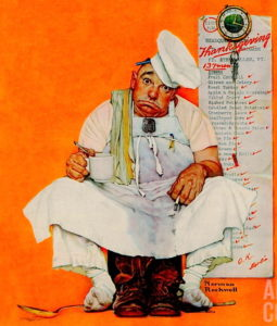 thanksgiving blues Norman Rockwell Saturday Evening Post 1942