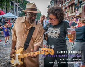 Eugene Johnson performs at the Big Muddy Blues Festival in Saint Louis. Photo by Reed Radcliffe, Triple R Photography
