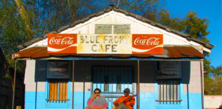 The Bentonia Blues Festival takes place at the Blue Front Cafe in Bentonia, Mississippi. Photo by Jeff Konkel