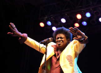 Charles Bradley at Roots n Blues n BBQ, taking place every September in Stephen's Lake Park, Columbia, Missouri.