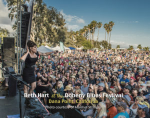 Beth Hart at the Doheny Blues Festival, Photo by Marilyn Stringer.