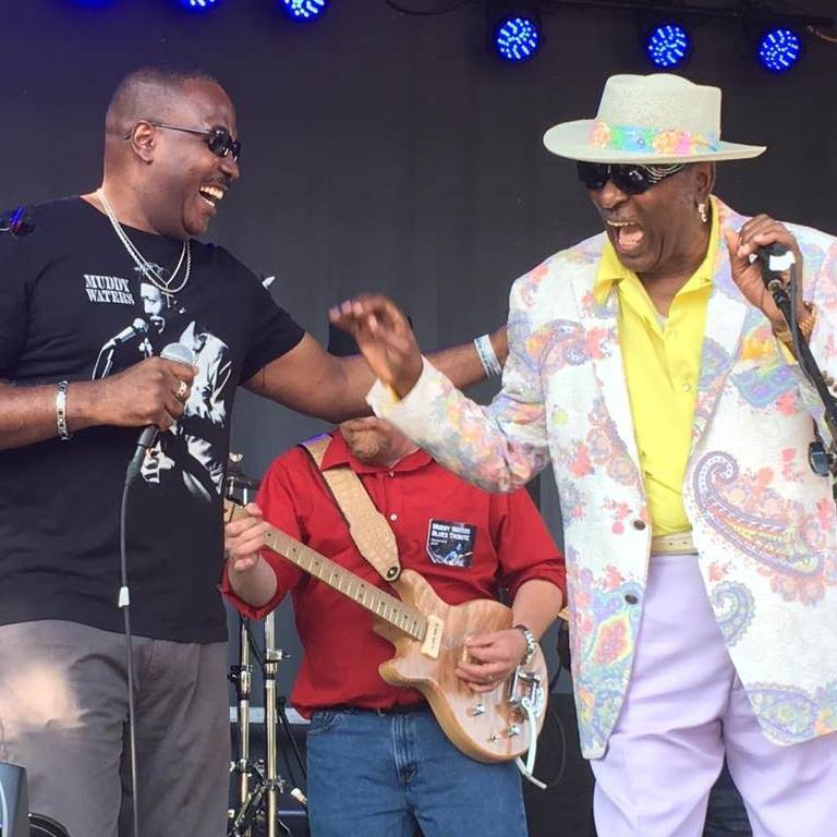 Eddy Clearwater with Joseph Morganfield Westmont Blues Festval - Lynn Orman Weiss