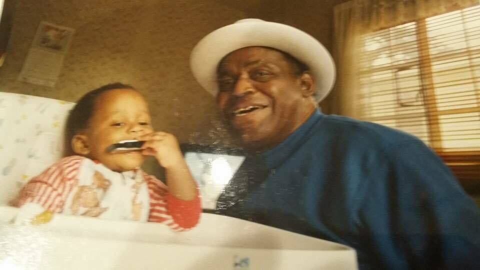 Keith Dixon with grandpa Willie Dixon