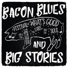 Bacon, Blues & Big Stories Logo - Design E - Black